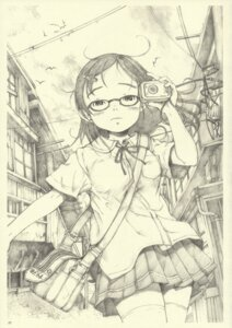 Rating: Safe Score: 5 Tags: may_no_tenshi megane monochrome neyuki_rei seifuku User: Radioactive
