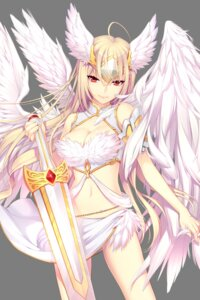 Rating: Safe Score: 49 Tags: cleavage dmyo soccer_spirits sword transparent_png wings User: Sunimo