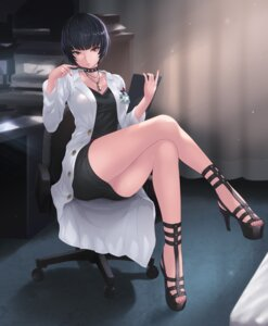 Rating: Safe Score: 21 Tags: business_suit cait heels persona_5 skirt_lift User: Mr_GT
