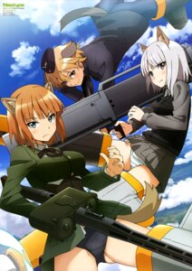 Rating: Questionable Score: 34 Tags: animal_ears brave_witches edytha_rossmann gun gundula_rall nakano_ruizu pantsu strike_witches tail uniform waltrud_krupinski User: drop