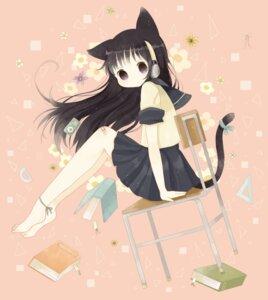 Rating: Safe Score: 5 Tags: animal_ears headphones nekomimi roromi seifuku tail User: animeprincess