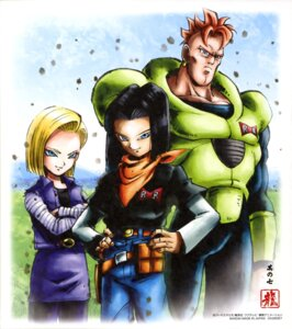 Rating: Safe Score: 5 Tags: android_16 android_17 android_18 dragon_ball User: drop