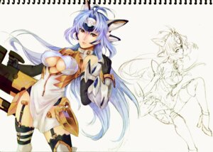 Rating: Questionable Score: 16 Tags: kos-mos linalool stockings thighhighs underboob xenosaga User: Radioactive