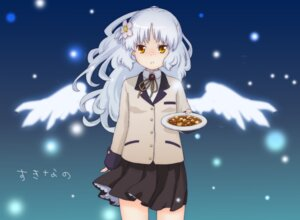 Rating: Safe Score: 7 Tags: angel_beats! seifuku tabekko_doubutsu tenshi wings User: Radioactive