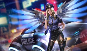Rating: Safe Score: 60 Tags: garter gun liang_xing mercy_(overwatch) overwatch police_uniform thighhighs wings User: RyuZU