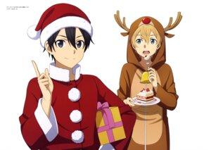 Rating: Safe Score: 9 Tags: christmas eugeo kirito sword_art_online User: drop