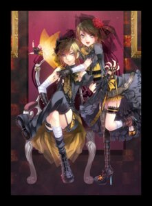 Rating: Safe Score: 7 Tags: kagamine_len kagamine_rin migiwa_hasu thighhighs vocaloid User: charunetra