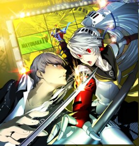 Rating: Safe Score: 33 Tags: kuma_(persona_4) labrys megaten narukami_yuu persona persona_4 persona_4:_the_ultimate_in_mayonaka_arena seifuku soejima_shigenori sword User: Radioactive