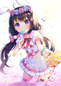 Rating: Safe Score: 72 Tags: animal_ears bunny_ears dress shoonear thighhighs wet User: Mr_GT