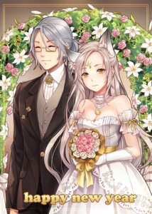 Rating: Safe Score: 20 Tags: animal_ears cleavage dress j.lili wedding_dress User: blooregardo