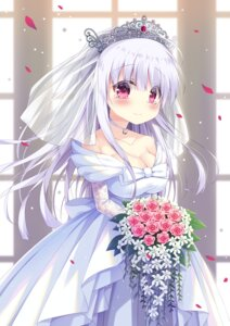 Rating: Safe Score: 42 Tags: azur_lane cleavage cygnet_(azur_lane) dress satsuki_yukimi wedding_dress User: Mr_GT