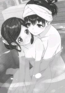Rating: Questionable Score: 24 Tags: bathing monochrome naked ryuuou_no_oshigoto! shirabi wet yuri User: kiyoe