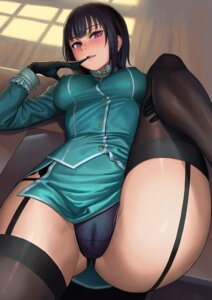Rating: Questionable Score: 82 Tags: cameltoe erect_nipples kantai_collection lasterk pantsu stockings takao_(kancolle) thighhighs uniform User: Nico-NicoO.M.