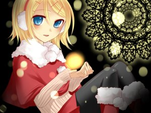 Rating: Safe Score: 10 Tags: christmas kagamine_rin pantyhose vocaloid wallpaper yayoi User: charunetra
