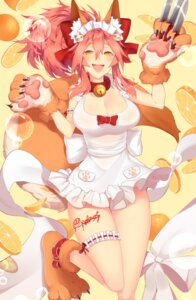 Rating: Safe Score: 11 Tags: animal_ears caster_(fate/extra) fate/grand_order garter naked_apron skelefuku tail User: Mr_GT