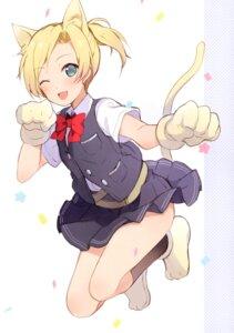 Rating: Safe Score: 43 Tags: 6u animal_ears kantai_collection maikaze_(kancolle) nekomimi seifuku tail User: charunetra