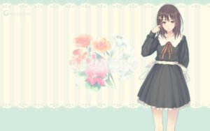 Rating: Safe Score: 32 Tags: flowers innocent_grey kousaka_mayuri seifuku sugina_miki wallpaper User: marshmallow