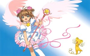 Rating: Safe Score: 3 Tags: card_captor_sakura dress garter kerberos kinomoto_sakura madhouse thighhighs weapon wings User: Omgix