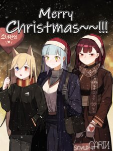 Rating: Safe Score: 7 Tags: animal_ears christmas g41_(girls_frontline) garin girls_frontline heterochromia hk416_(girls_frontline) sweater wa2000_(girls_frontline) User: Dreista
