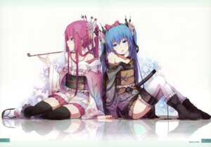 Rating: Safe Score: 69 Tags: hatsune_miku lolita_fashion megurine_luka milky_been! ogipote thighhighs vocaloid wa_lolita yukata User: Hatsukoi