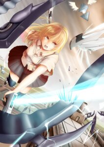 Rating: Safe Score: 14 Tags: armor iltusa monster seifuku sword weapon wings User: syuki144