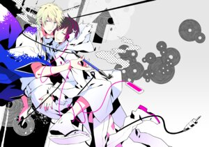 Rating: Safe Score: 9 Tags: durarara!! headphones heiwajima_shizuo kimono male mog orihara_izaya yaoi User: Amperrior