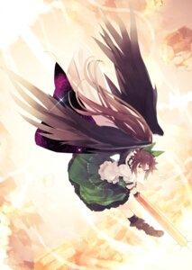 Rating: Safe Score: 7 Tags: reiuji_utsuho shihou touhou wings User: Radioactive
