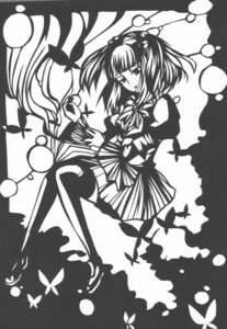 Rating: Safe Score: 5 Tags: eri_(appleandtoothpick) monochrome thighhighs umineko_no_naku_koro_ni ushiromiya_ange User: 洛井夏石