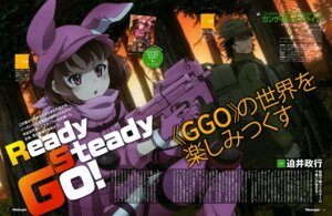 Rating: Safe Score: 21 Tags: bodysuit fukaziroh gun_gale_online llenn m nishimura_rie pitohui sword_art_online sword_art_online_alternative:_gun_gale_online User: drop