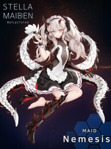 Rating: Safe Score: 42 Tags: armor heels horns kyuri_tizu maid no_background no_bra see_through stella_maiden tentacles User: Mr_GT