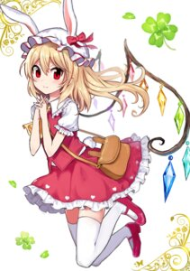 Rating: Safe Score: 41 Tags: animal_ears bunny_ears flandre_scarlet tail thighhighs touhou wings yada_(xxxadaman) User: Mr_GT