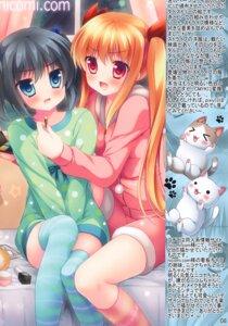 Rating: Questionable Score: 2 Tags: neko pajama tagme thighhighs yuri User: Radioactive