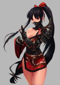 Rating: Questionable Score: 71 Tags: armor cleavage kimono ninja no_bra open_shirt takssmask User: mash