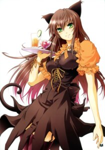 Rating: Safe Score: 27 Tags: animal_ears nekomimi omega_2-d stockings tail thighhighs waitress User: blooregardo