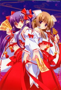 Rating: Safe Score: 33 Tags: carnelian cropme fairy_factory miko scanning_dust seika touka_(fairy_factory) User: peoplo
