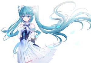 Rating: Safe Score: 19 Tags: baocaizi dress hatsune_miku hatsune_miku_symphony skirt_lift vocaloid User: charunetra