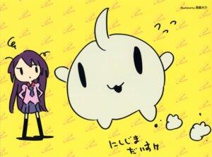 Rating: Safe Score: 9 Tags: bakemonogatari chibi nishijima_daisuke seifuku senjougahara_hitagi User: Radioactive