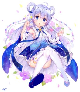 Rating: Safe Score: 14 Tags: dress flower_knight_girl piyoyanagi skirt_lift stockings thighhighs User: Mr_GT