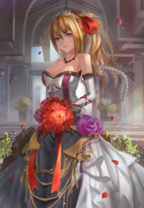 Rating: Safe Score: 63 Tags: cleavage dress lexington magician_(china) wedding_dress zhanjianshaonv User: Mr_GT