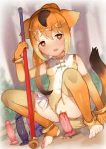 Rating: Explicit Score: 31 Tags: animal_ears cat_garden dildo erect_nipples feet golden_snub-nosed_monkey kemono_friends leotard loli masturbation nekotewi nopan pussy pussy_juice tail thighhighs uncensored weapon User: Nico-NicoO.M.