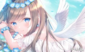 Rating: Questionable Score: 38 Tags: angel no_bra see_through wasabi_(artist) wings User: hiroimo2