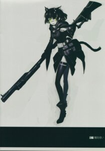 Rating: Safe Score: 18 Tags: animal_ears black_rock_shooter demon_canon_user gun huke nekomimi tail vocaloid User: yumichi-sama