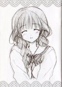 Rating: Safe Score: 22 Tags: carnelian mayuna monochrome seifuku sketch User: peoplo