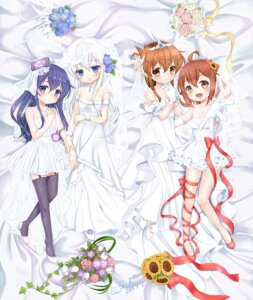 Rating: Safe Score: 42 Tags: akatsuki_(kancolle) dress heels hibiki_(kancolle) ikazuchi_(kancolle) inazuma_(kancolle) kantai_collection shibi stockings thighhighs wedding_dress User: Mr_GT