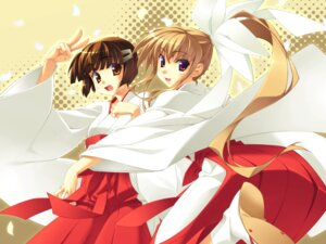 Rating: Safe Score: 6 Tags: miko miko-san_hosoude_hanjouki miyatsuki_itsuka wallpaper User: korokun