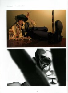 Rating: Safe Score: 5 Tags: cowboy_bebop jet_black spike_spiegel User: lzcli
