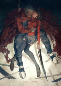 Rating: Safe Score: 19 Tags: archer fate/stay_night ju_rei sword thighhighs toosaka_rin User: blooregardo