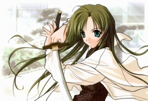 Rating: Safe Score: 3 Tags: happy_lesson sanzein_yayoi sasaki_mutsumi sword User: Radioactive