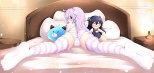 Rating: Questionable Score: 78 Tags: ass cameltoe chibi choujigen_game_neptune ether_core feet loli nepgear pantsu school_swimsuit shimapan swimsuits thighhighs topless User: Mr_GT