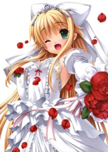Rating: Safe Score: 66 Tags: axl charlotte_tiger dress itoshii_kanojo_no_mamorikata senomoto_hisashi wedding_dress User: fairyren